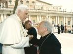Dom Manoel com Papa Bento XVI