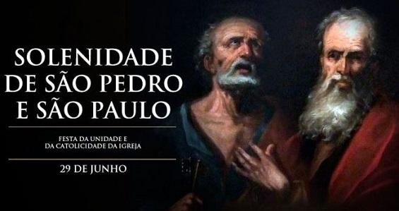 Igreja celebra a Solenidade de São Pedro e São Paulo