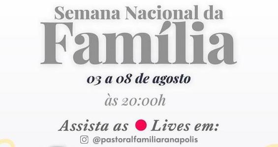 Pastoral Familiar diocesana realiza lives em preparação para a Semana Nacional da Família